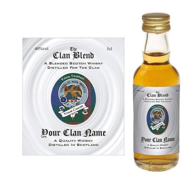 Just Miniatures:MacIntyre (Scottish Clan Blended Whisky Miniature) in gift box