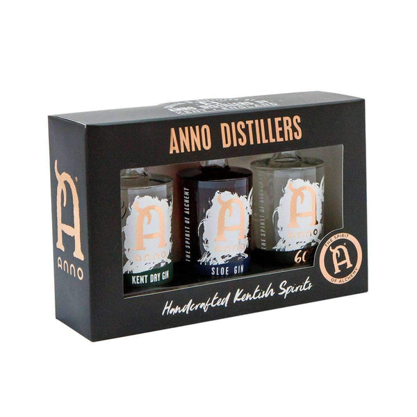 Just Miniatures:Anno Kentish Gin Miniature Selection - 3 x 5cl