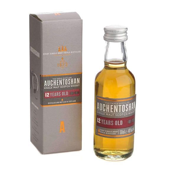 Just Miniatures:Auchentoshan 12 yr Single Malt Scotch Whisky Miniature - 5cl,Miniature Drinks