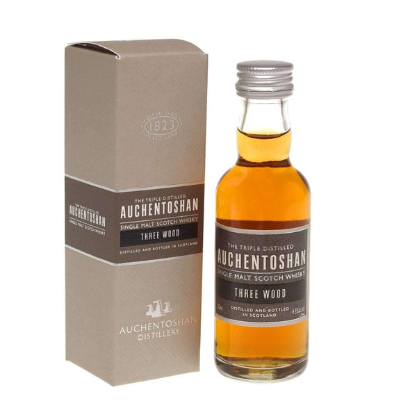 Just Miniatures:Auchentoshan Three Wood Single Malt Scotch Whisky Miniature - 5cl,Miniature Drinks
