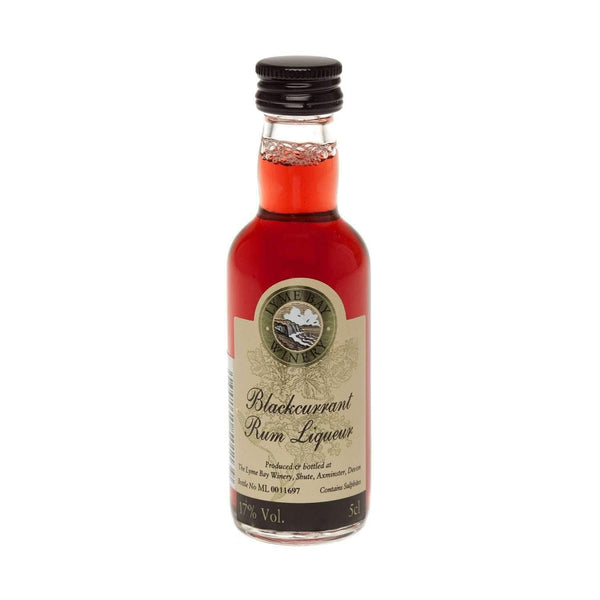 Just Miniatures:Blackcurrant Fruit Rum Liqueur Miniature (Lyme Bay) - 5cl,Miniature Drinks