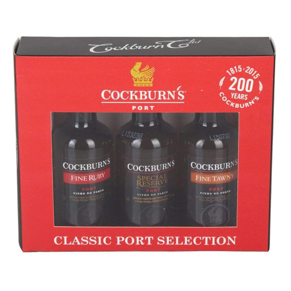 Cockburn's Classic Port Selection Gift Set - 3 x 5cl