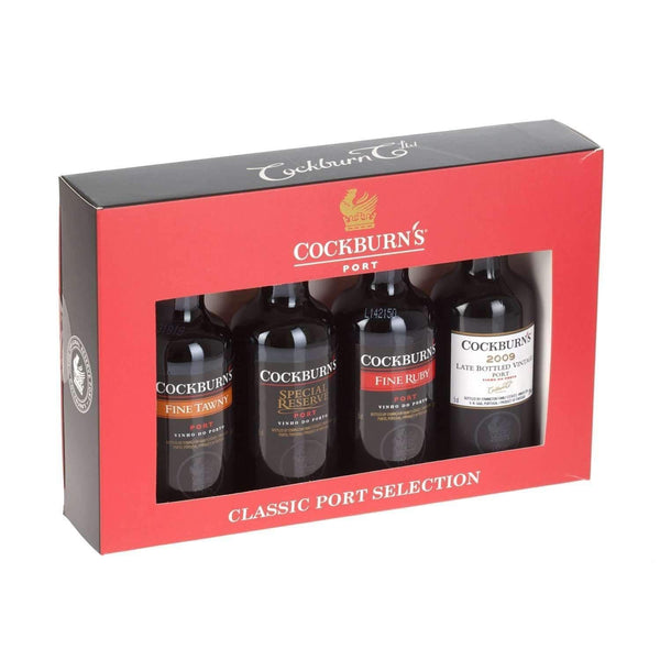 Just Miniatures:Cockburn's Classic Port selection Gift Set - 4 x 5cl