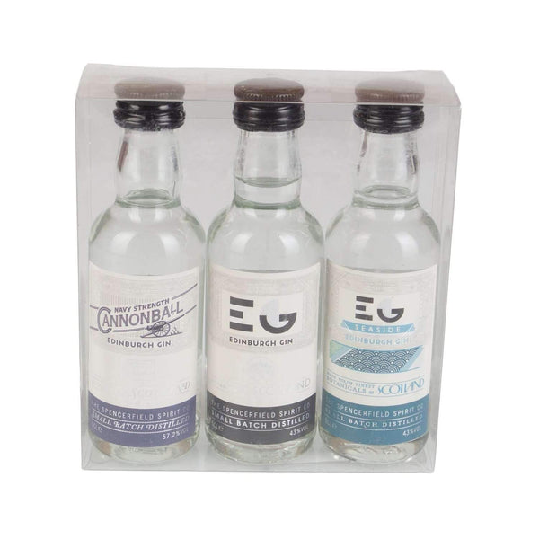 Just Miniatures:Edinburgh Gin Miniature Gift Set - 3 x 5cl