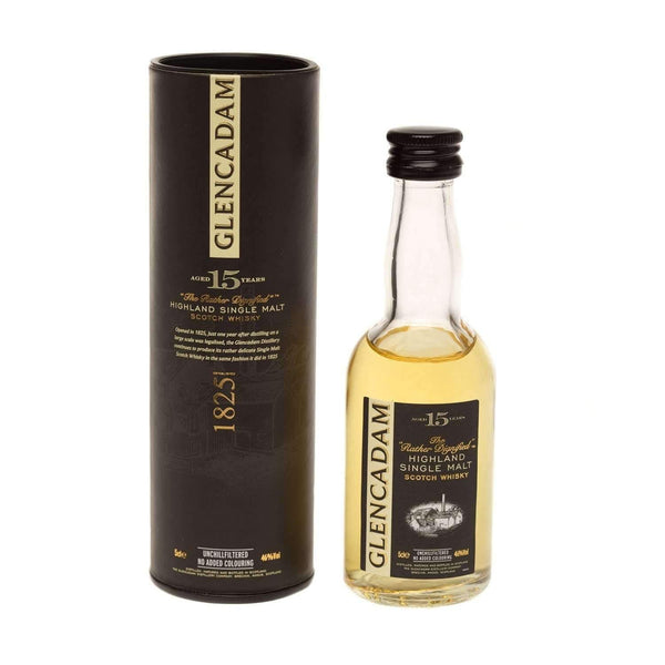Glencadam 15 yr Single Malt Scotch Whisky Miniature - 5cl Miniature Drinks Default Title