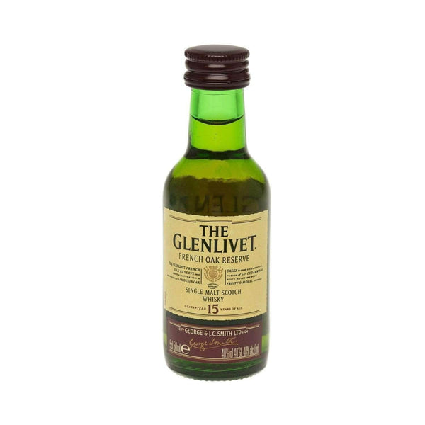 Just Miniatures:Glenlivet Reserve 15 year Single Malt Scotch Whisky Miniature - 5cl,Miniature Drinks