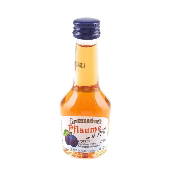 Just Miniatures:Grutzmacher's Pflaume mit Pfiff Liqueur Miniature - 2cl,Offers