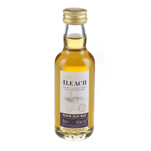 Just Miniatures:Ileach Islay Peaty Single Malt Scotch Whisky Miniature - 5cl,Miniature Drinks