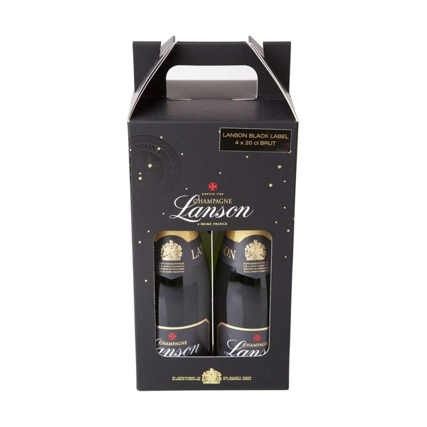 Just Miniatures:Lanson Brut Champagne Carry Case - 4 x 20cl
