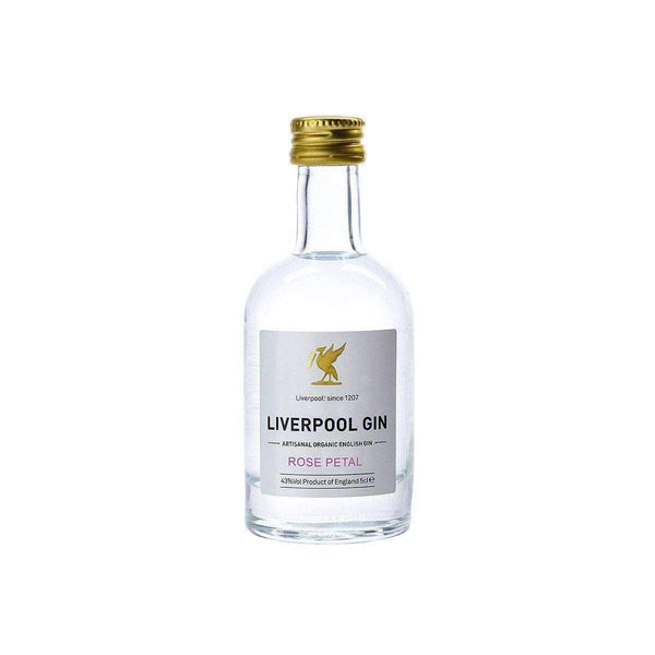 Just Miniatures:Liverpool Artisanal Organic Rose Petal English Gin Miniature - 5cl,Miniature Drinks