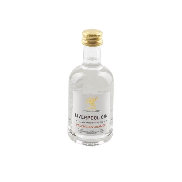 Just Miniatures:Liverpool Small Batch Valencian Orange English Gin Miniature - 5cl,Miniature Drinks