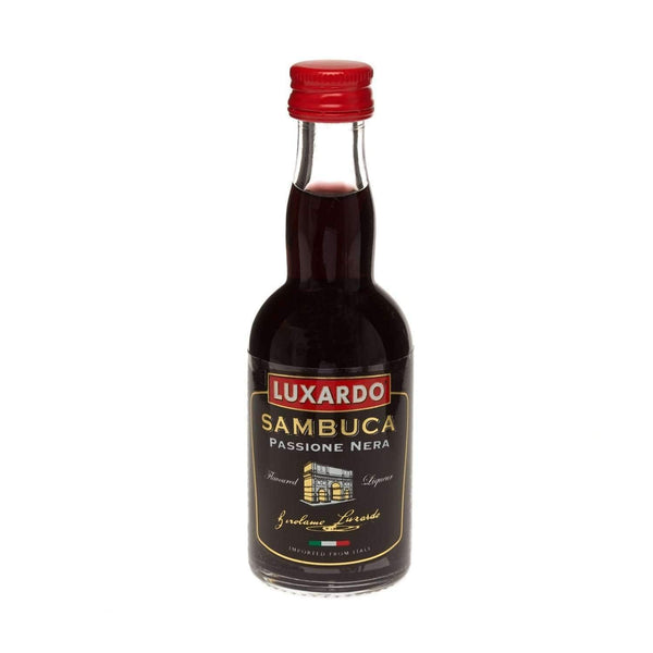 Just Miniatures:Luxardo Passione Nera Black Sambuca Liqueur Miniature - 5cl,Miniature Drinks