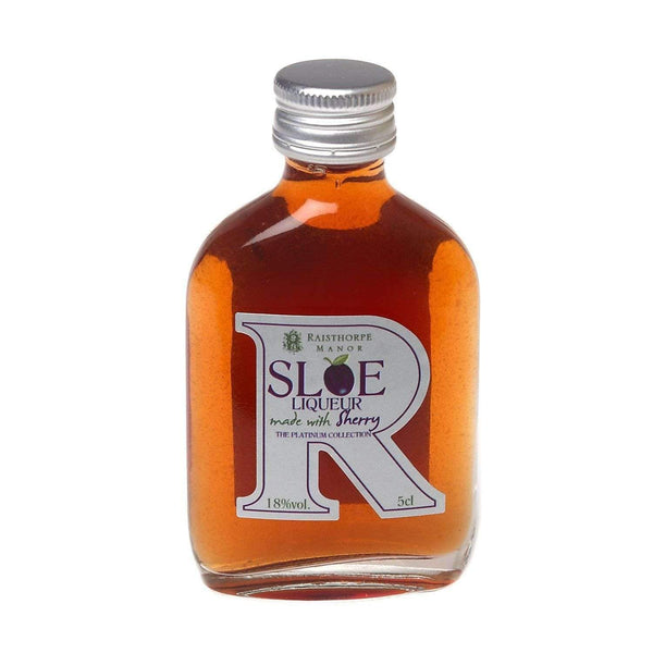 Just Miniatures:Raisthorpe Manor Platinum Sloe Liqueur with Sherry Miniature - 5cl,Miniature Drinks