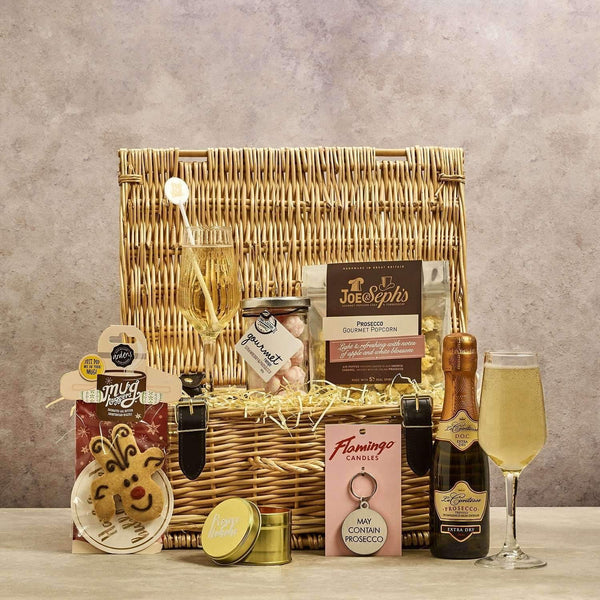 Just Miniatures:Santas delight Prosecco Filled Premium Hamper - 14 inch