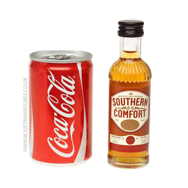 Just Miniatures:Southern Comfort Liqueur & Coke (Miniature & Mini Can Set)