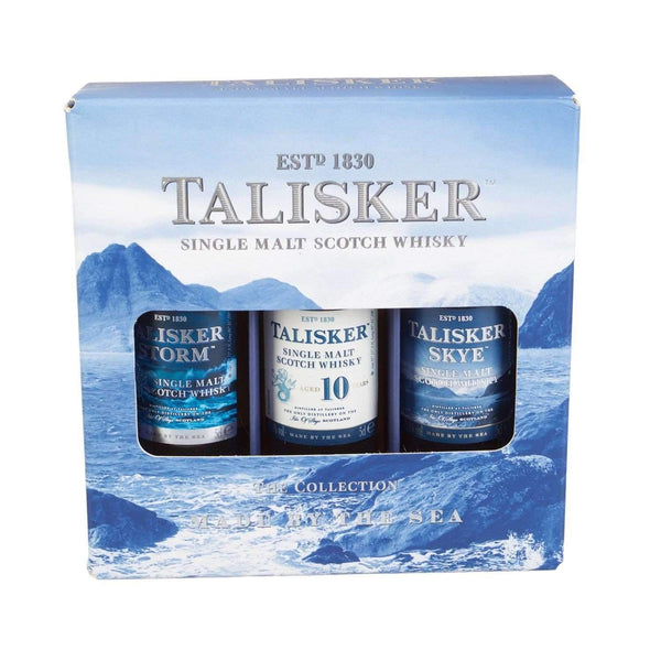 Just Miniatures:Talisker Single Malt Whisky Miniature Gift Set - 3 x 5cl