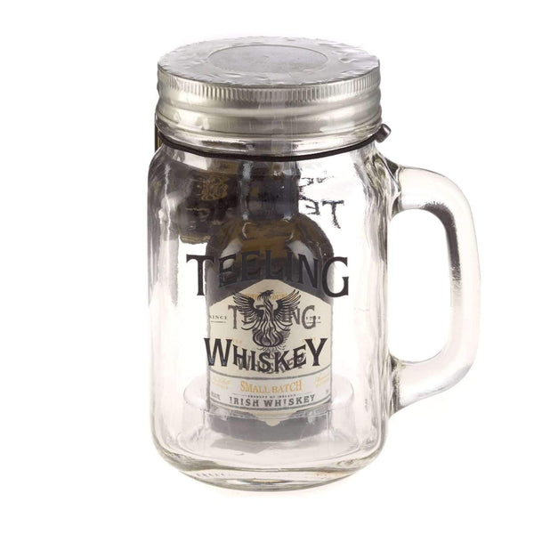 Just Miniatures:Teeling Irish Whiskey Miniature in Glass Jar Gift - 5cl
