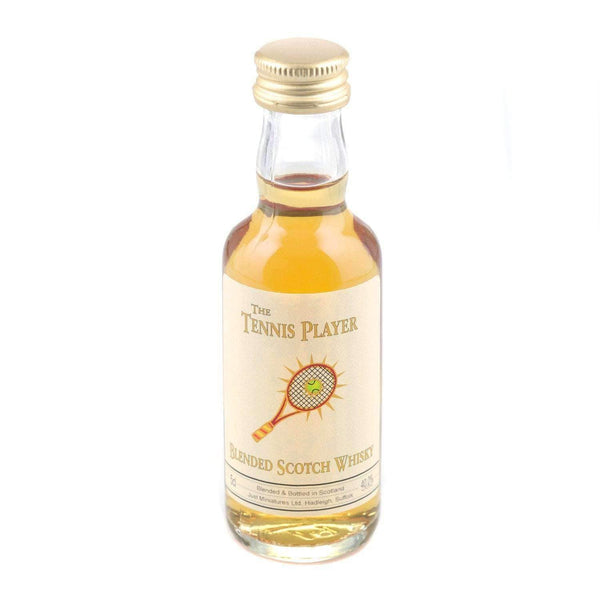 Just Miniatures:Tennis Player Blended Scotch Whisky Miniature - 5cl,Miniature Drinks