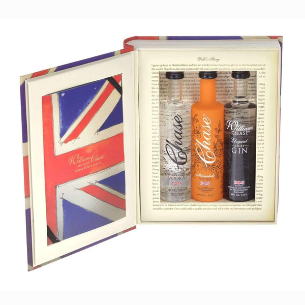 Just Miniatures:The Chase Brand Box Trio Selection Miniature Gift Set - 3 x 5cl