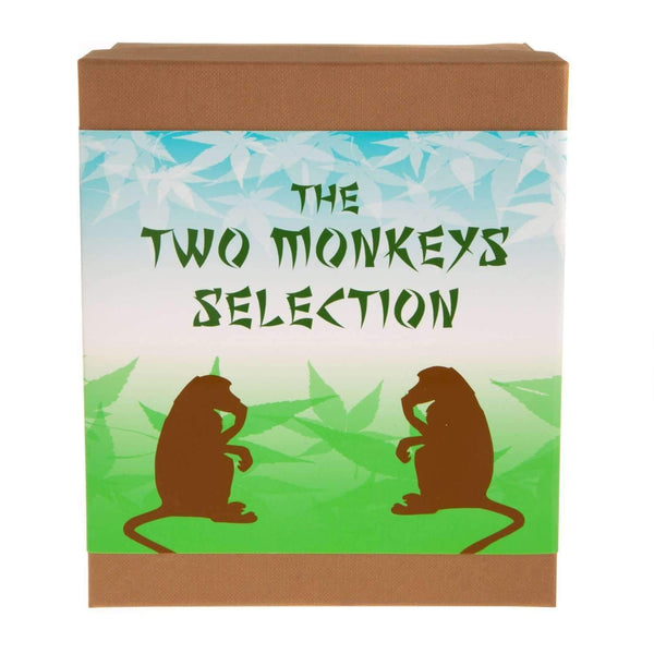 Just Miniatures:The Two Monkeys Gift Set with Monkey Shoulder Whisky & Monkey 47 Gin Miniatures