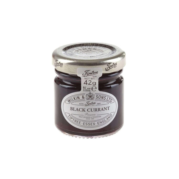Just Miniatures:Wilkin & Sons Tiptree Blackcurrant Preserve Mini Jar - 42g