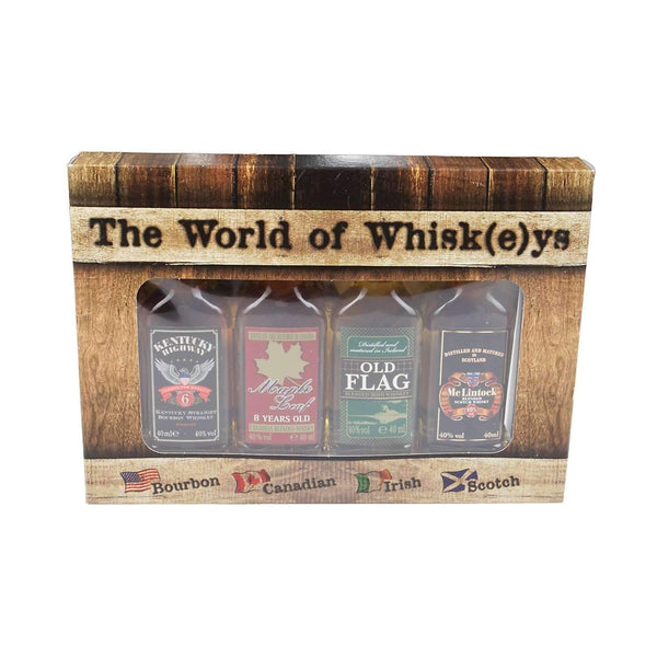 Just Miniatures:World of Whisk(e)ys Miniature Gift Set - 4 x 4cl