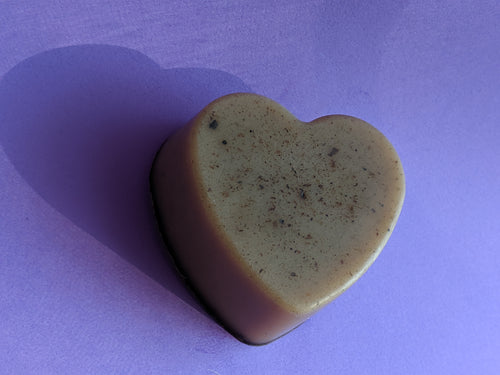 mildly exfoliating, mocha coffee scrub soap