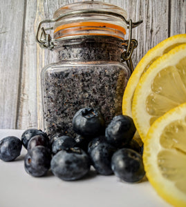 Blueberry lemonade sugar scrub