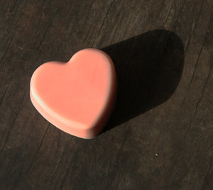 Pink Valentine's Day Heart Soap