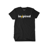 Inspired Bolt Black / White   [Unisex Tee] -  Inspired  By All