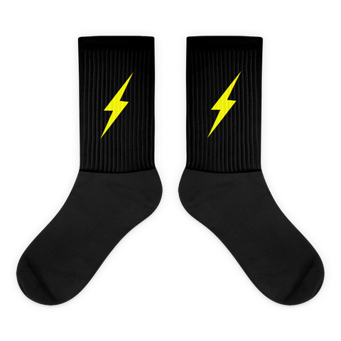Bolt Socks BLK -  Inspired  By All