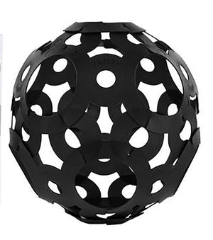 FOOOTY BALL - BLACK - the Any Shape You Choose Ball that Folds to Keep in Your Pocket (available in Black, Red, Pink and Glow in the Dark colors)