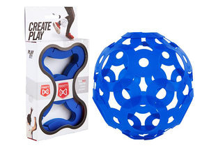 New Foooty - the Ball You Construct That Fits in Every Pocket - Blue