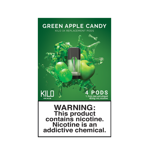 Green Apple Candy - Pack of 4 Pods by Kilo 1K