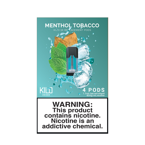 Menthol Tobacco - Pack of 4 Pods by Kilo 1K