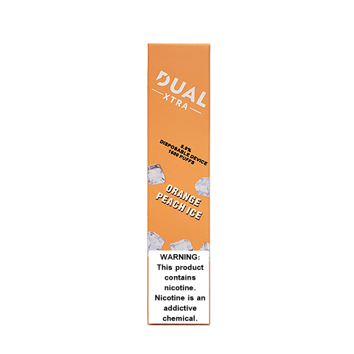 Orange Peach Ice Disposable Pod (1600 Puffs) by Dual Xtra