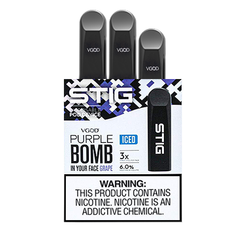 Purple Bomb Disposable Pod - Pack of 3 by VGOD STIG