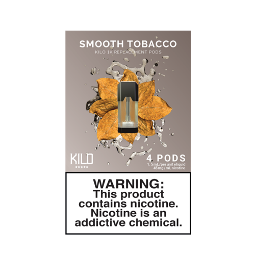 Smooth Tobacco - Pack of 4 Pods by Kilo 1K