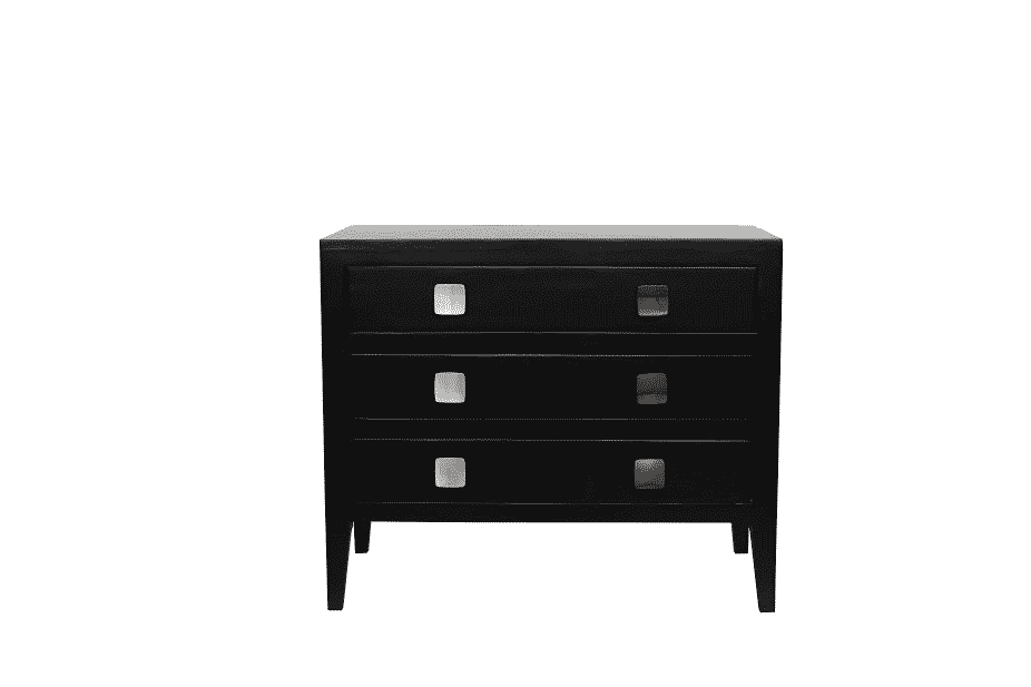 TUNWORTH CHEST OF DRAWERS  BLACK