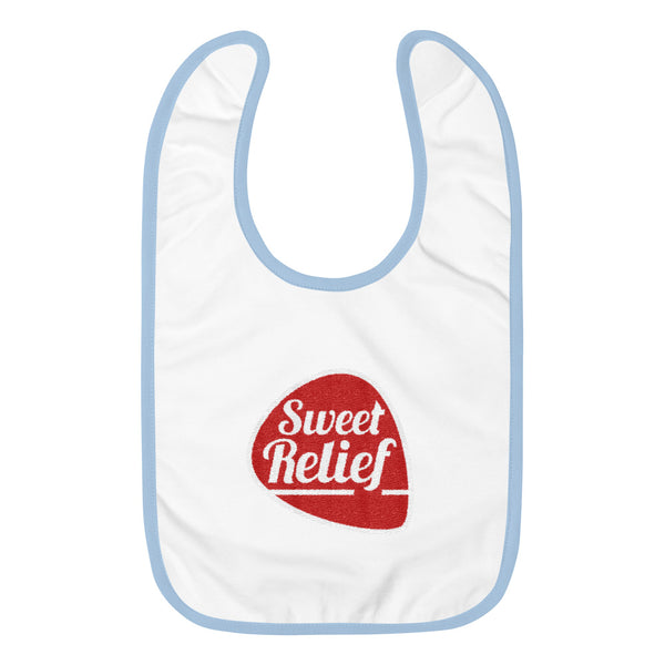 Sweet Relief Logo Embroidered Baby Bib