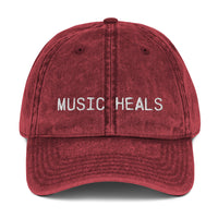 Music Heals Vintage Cotton Twill Cap