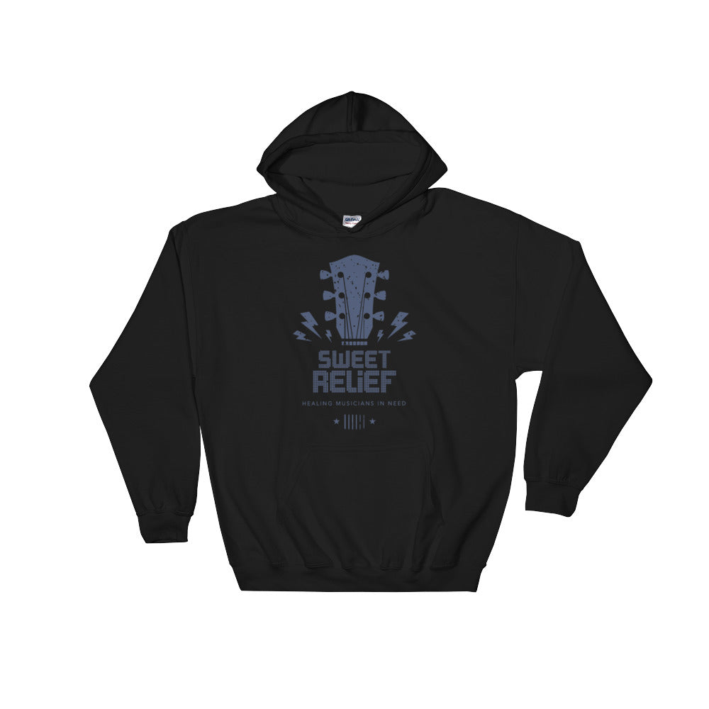 Sweet Relief Guitar Headstock Hooded Sweatshirt