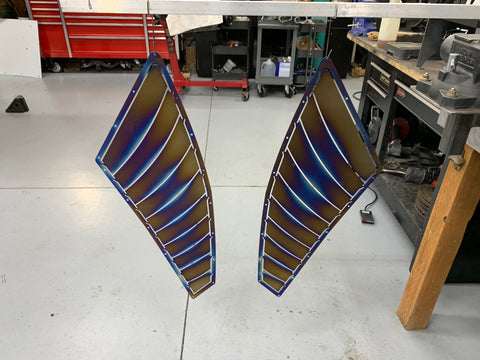 Powerneedy Motorsports J's Racing TYPE-GT Fender Vents Titanium