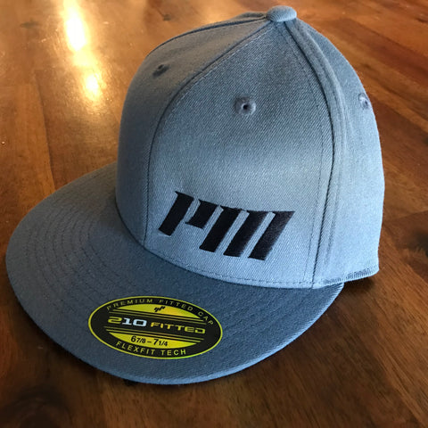 Powerneedy Motorsports PM Flat Bill Hat Blacked Out