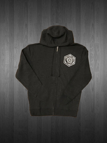 Powerneedy Zip Up Bolt Hoodie