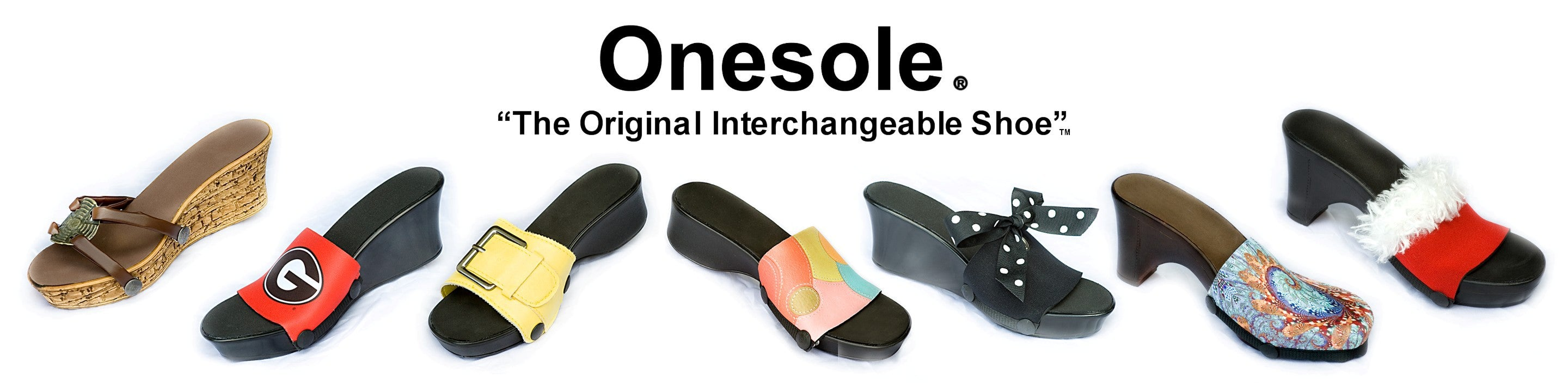 """CLOSE OUT Onesole Interchangeable Shoe /""""TOPS/""""  Red Sequins"""