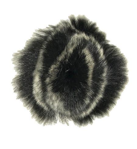 Black & Grey Faux Fur