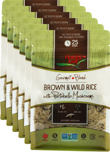 Brown & Wild Rice with Portobello Mushrooms (6 x 400g)