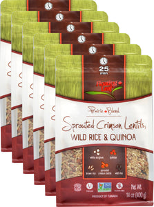 Sprouted Crimson Lentils, Wild Rice & Quinoa (6 x 400g)