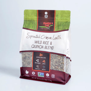 Sprouted Crimson Lentils, Wild Rice & Quinoa (1.5kg)